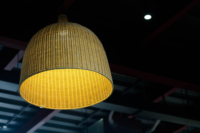 wicker ceiling light
